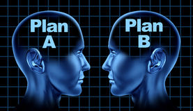 Plan a plan b business planning options Thinking Stock Photography