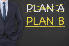 Plan A or Plan B on Chalkboard. Working Conceptual Business Concept Royalty Free Stock Image