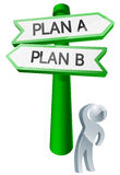 Plan A or Plan B concept Stock Image