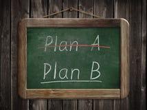 Plan A plan B concept written on blackboard Stock Photo