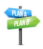 Plan a plan b road sign illustration design Royalty Free Stock Photos