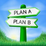Plan A or Plan B sign concept Royalty Free Stock Image