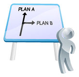 Plan A or Plan B sign Royalty Free Stock Images