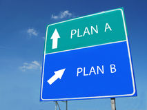 PLAN A -- PLAN B sign Royalty Free Stock Photography