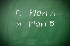 Plan A and Plan B Stock Image