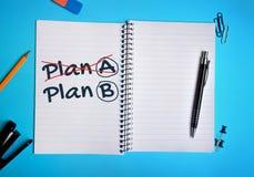 Plan A Plan B word Stock Photo