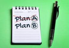 Plan A Plan B word Stock Image