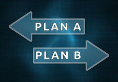 Plan A, Plan B Royalty Free Stock Images