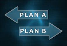 Plan A, Plan B Royalty Free Stock Images