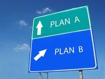 PLAN A -- PLANb teken Royalty-vrije Stock Fotografie