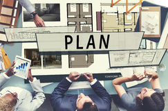 Plan Planning Architecture Blueprint Drawing Concept Royalty Free Stock Photo
