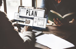 Plan Planning Architecture Blueprint Drawing Concept Royalty Free Stock Photos