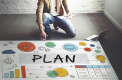 Plan Planning Business Sttrategy Data Analysis Concept Royalty Free Stock Photos