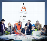 Plan Planning Process Mission Concept. Plan Planning Process Mission Team Collaboration royalty free stock images