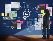 Plan Planning Strategy Business Ideas Concept royalty free illustration