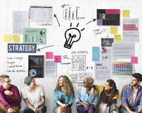 Plan Planning Strategy Bysiness Ideas Concept. People Plan Planning Strategy Business Ideas Stock Images