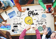 Plan Planning Strategy Design Creativity Concept Royalty Free Stock Photos