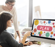 Plan Planning Vision Strategy Tactics Process Concept Royalty Free Stock Image