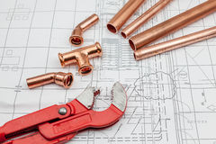 Plan plumber Stock Images