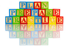 Plan prepare practice Royalty Free Stock Photography