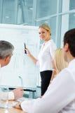 Plan presentation Stock Image