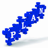 Plan Puzzle Showing Business Planning Stock Images