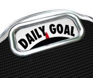 Plan quotidien de régime de perte de poids d'échelle de but Image libre de droits