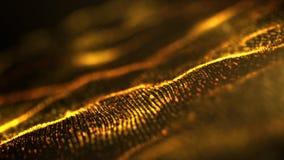 Plan rapproché à angles de particules de vague d'abrégé sur or photo stock