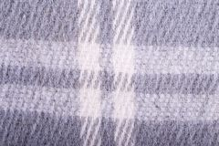 Plan rapproché à carreaux de plaid de laine Photographie stock libre de droits