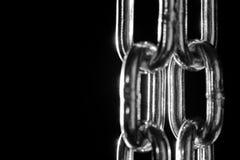 Plan rapproché à chaînes en métal Image libre de droits
