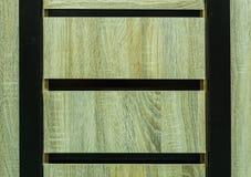 Plan rapproché à la texture en bois de fond de tiroirs de Brown Photo stock