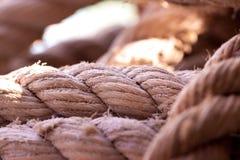 Plan rapproché épais durable de corde de mer images libres de droits