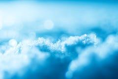 Plan rapproché abstrait lumineux de fond d'hiver de neige Photo libre de droits