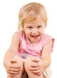 Plan rapproché adorable de petite fille Photographie stock