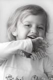 Plan rapproché adorable de petite fille Photo stock