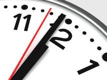 Plan rapproché analogique d'horloge Photos stock
