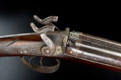 Plan rapproché antique de fusil de chasse Image libre de droits