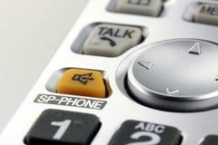 Plan rapproché argenté de clavier numérique de téléphone sans fil Photographie stock