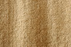 Plan rapproché beige de serviette de coton Photographie stock