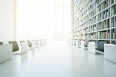 Plan rapproché blanc de table de bibliothèque illustration de vecteur