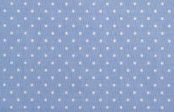 Tissu bleu de point de polka Image libre de droits