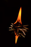 Plan rapproché brûlant de matchs Photo stock