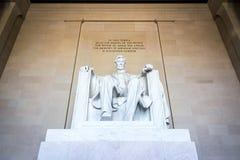 Plan rapproché célèbre P de point de repère d'Abraham Lincoln Memorial Sitting Chair photos libres de droits