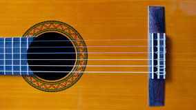 Plan rapproché classique de guitare Images stock