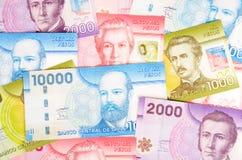 Plan rapproché coloré de pesos chiliens