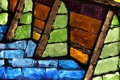 Plan rapproché coloré en verre souillé Images stock