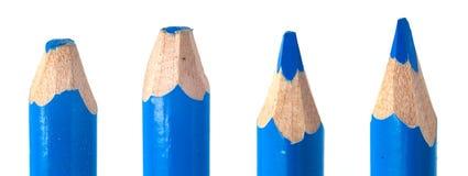Plan rapproché coloré utilisé de macro d'avances de crayon photos stock