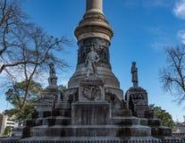 Plan rapproché commémoratif confédéré de monument photos stock