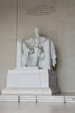 Plan rapproché commémoratif de Lincoln, Washington DC Etats-Unis photo libre de droits