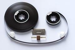 Plan rapproché compact de concept de bandes magnétiques de cassette sonore image stock